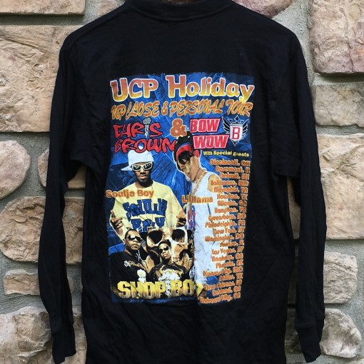 vintage Chris Brown Lil Bow wow soulja boy lil mama shop boyz rap tee concert shirt size medium