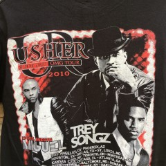 vintage Usher Trey Songz rap concert tee shirt size medium