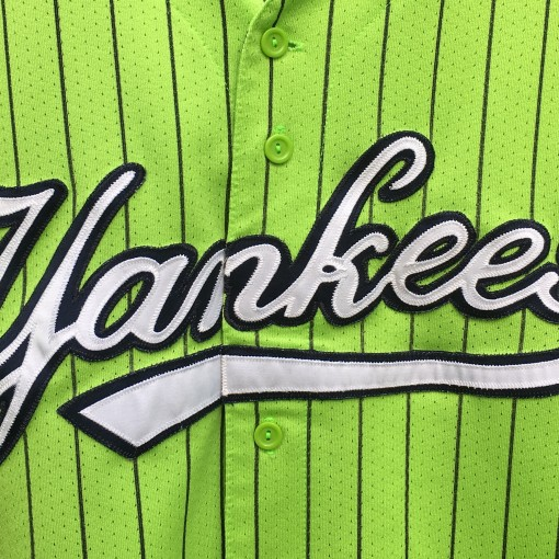 90's New York Yankees Lime Green Majestic mlb baseball jersey size large
