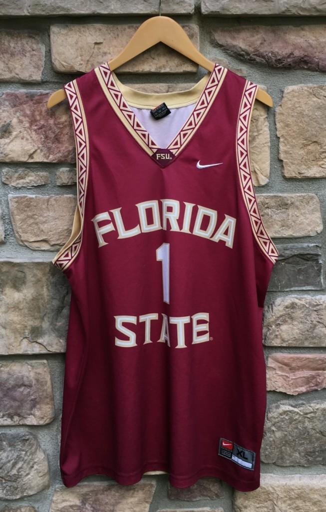 huge discount 423df d3eef 90's Florida State Seminoles #1 Nike NCAA Basketball Jersey Size XL
