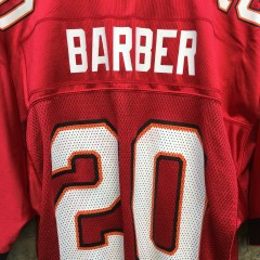 2002 Ronde Barber Tampa Bay Buccaneers Reebok NFL Football jersey size medium red home
