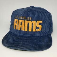 80's Los Angeles Rams Corduroy NFL Snapback hat AJD blue