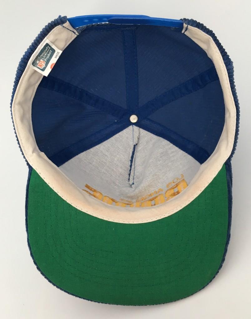 5d6e7fa9786 80 s Los Angeles Rams Corduroy NFL Snapback hat AJD blue