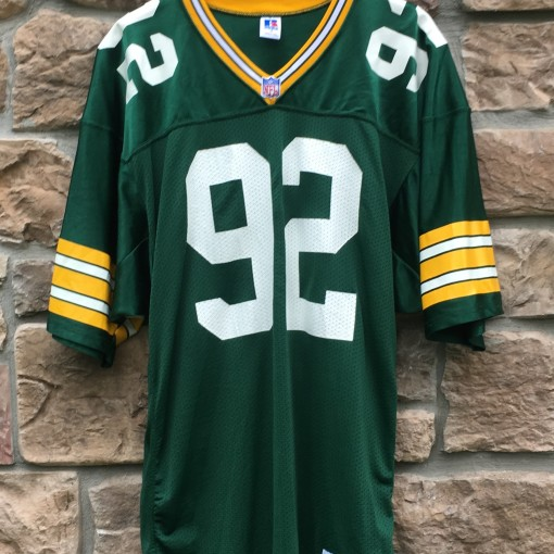 90's Reggie White Green Bay Packers authentic Russell NFL jersey size 44 Large