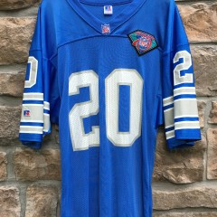 1994 Barry Sanders authentic detroit lions 75h anniversary NFL jersey size 44 large blue
