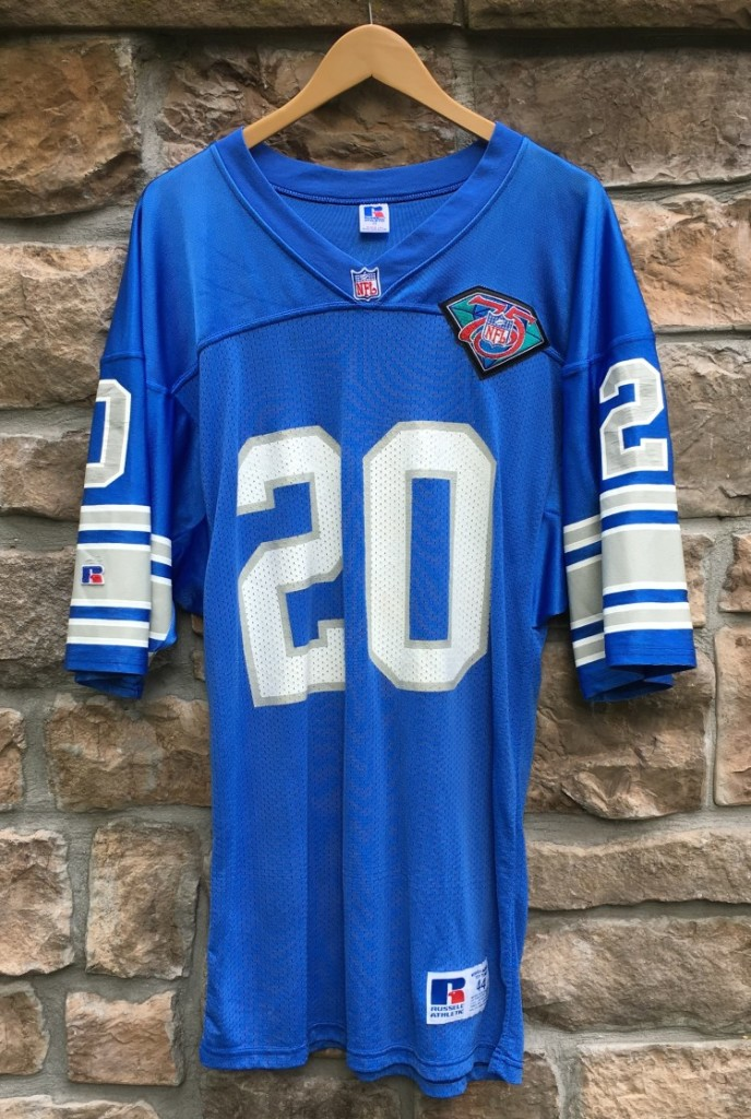 quality design fb7bb 91b89 1994 Barry Sanders Detroit Lions Authentic Russell NFL Jersey Size 44