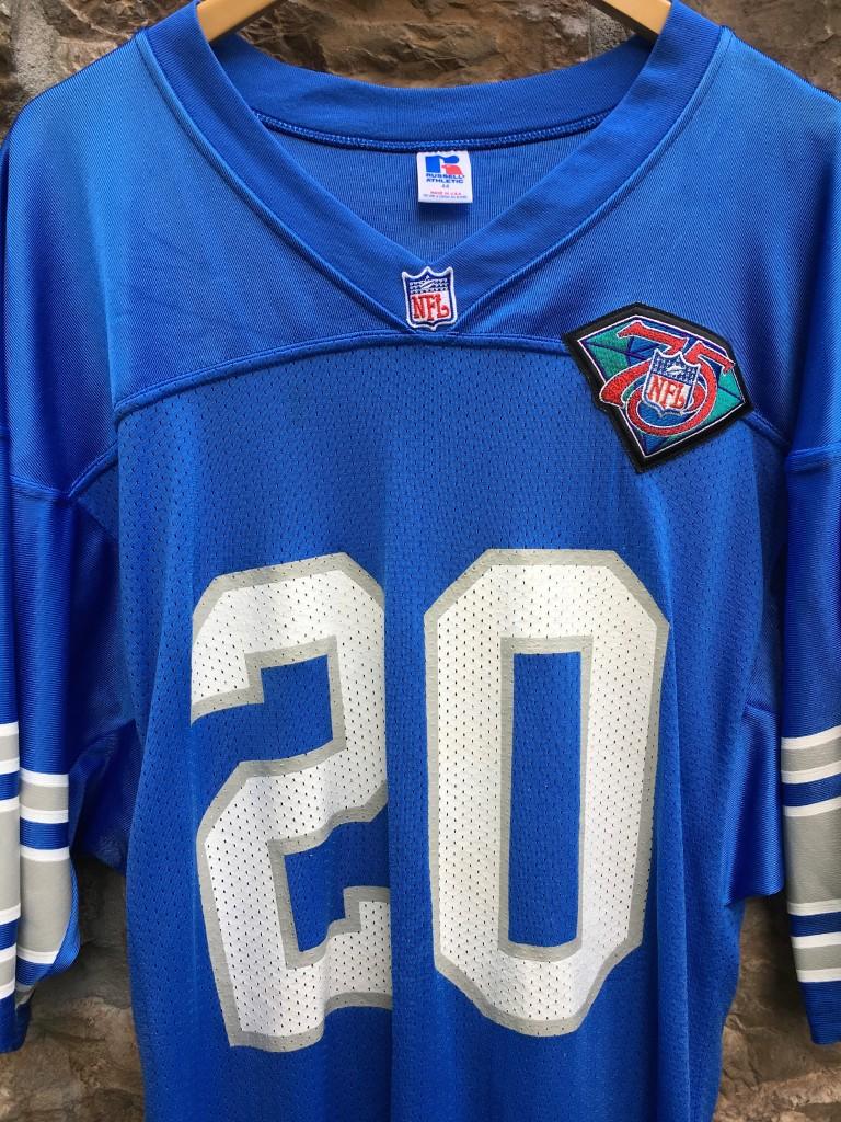 1994 Barry Sanders authentic detroit lions 75h anniversary NFL jersey size  44 large blue 5b694b0c2