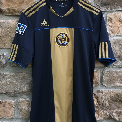 2010 Philadelphia Union MLS Soccer Jersey Adidas Size Small