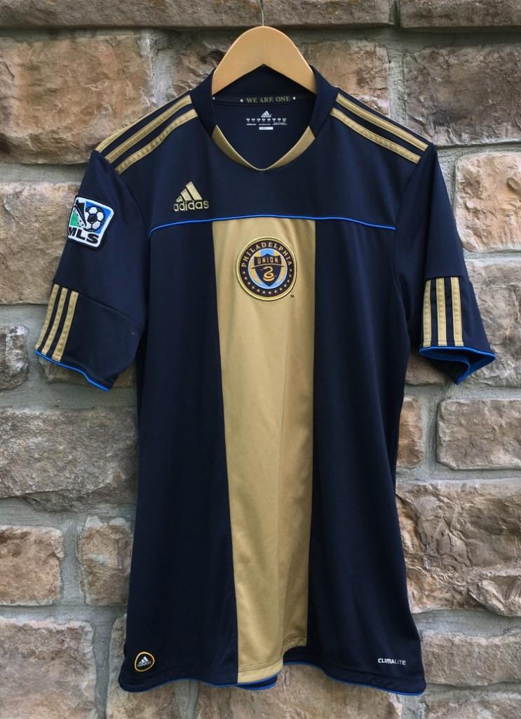 2010 philadelphia union mls adidas soccer jersey size