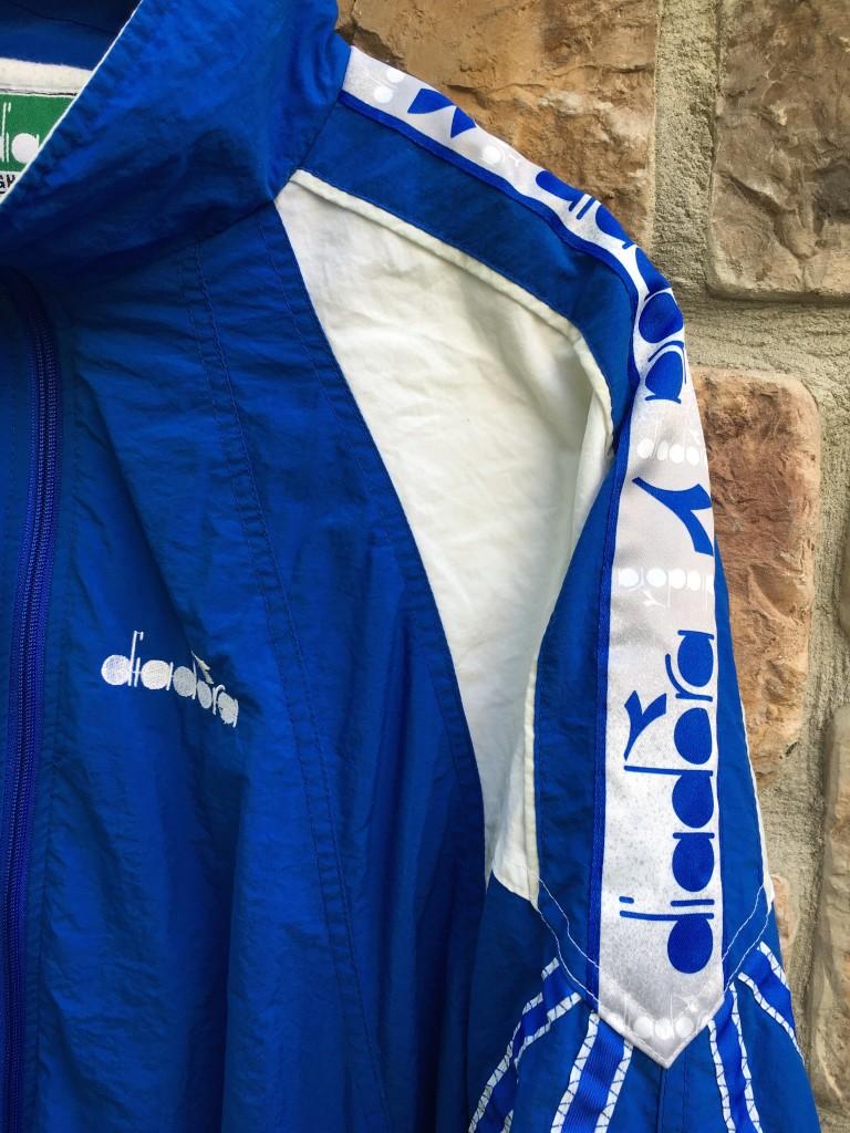 80's Diadora BlueWhite Full Track Suit Size XL