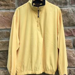 90's Tommy Hilfiger Golf Yellow quarter Zip pullover jacket size large