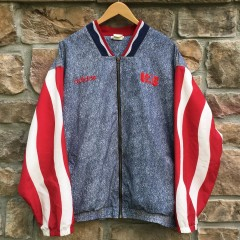 vintage 1994 Team USA world Cup soccer faux denim Adidas jacket size large
