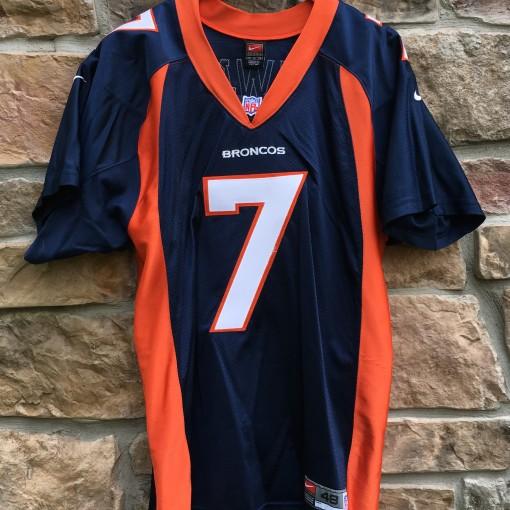 1998 Denver Broncos John Elway Nike Authentic NFL jersey size 48 navy blue batwing
