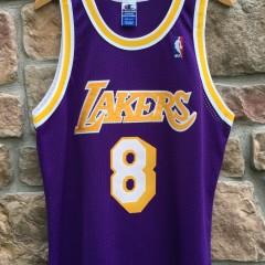 1998 Los Angeles Lakers Kobe Bryant Champion Purple  authentic jersey size 44 large