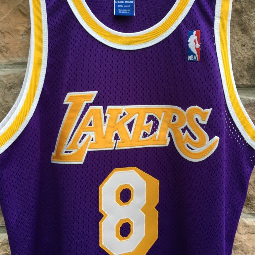 1998 Los Angeles Lakers Kobe Bryant Champion Purple  authentic jersey size 44 large