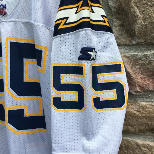 1995 Authentic San Diego Chargers Starter Junior Seau pro line authentic NFL jersey size 46