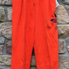 vintage early 90's Adidas orange sweatpants deadstock size large