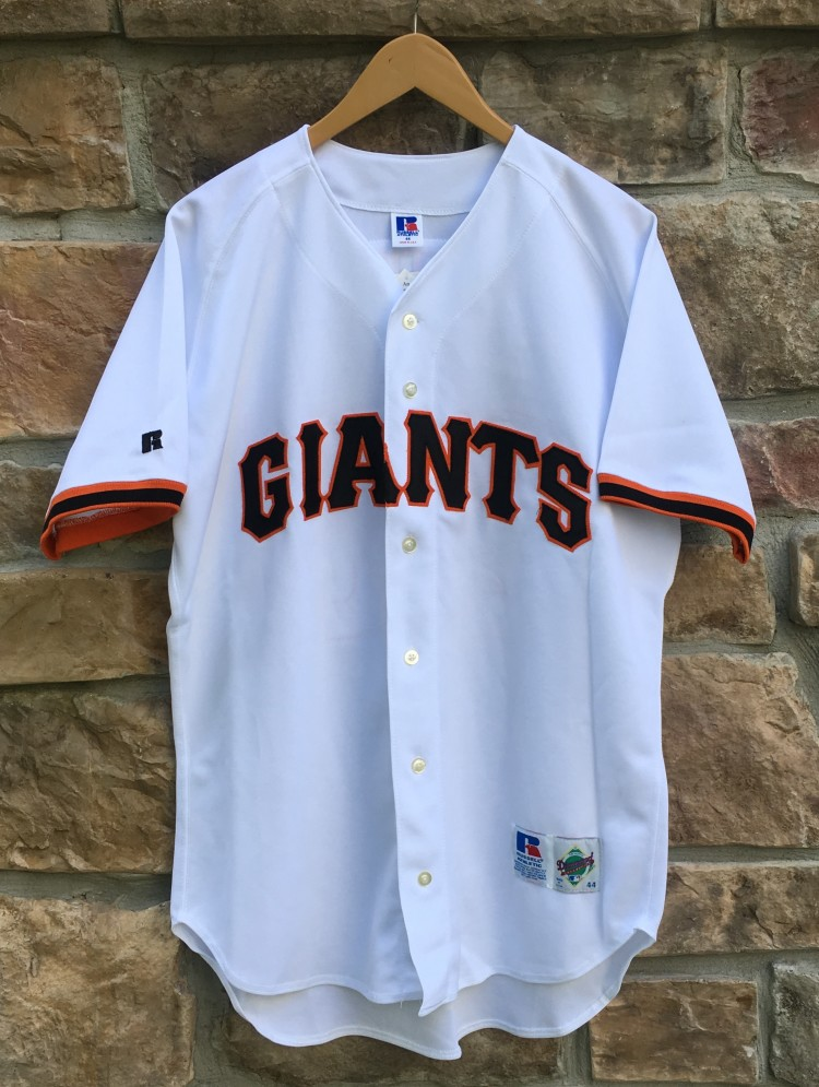 buy online 321a6 a1ed8 1995 Deion Sanders San Francisco Giants Authentic Russell MLB Jersey Size 44