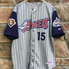 1997 Tim Salmon Anaheim Angels Authentic Rawlings MLB jersey size 48 deadstock
