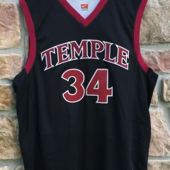 2003 David Hawkins Temple Owls Authentic Nike NCAA basketball jersey size 48