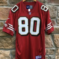 vintage 90's Jerry Rice Authentic San Francisco 49ers Reebok NFL jersey size 44 Large