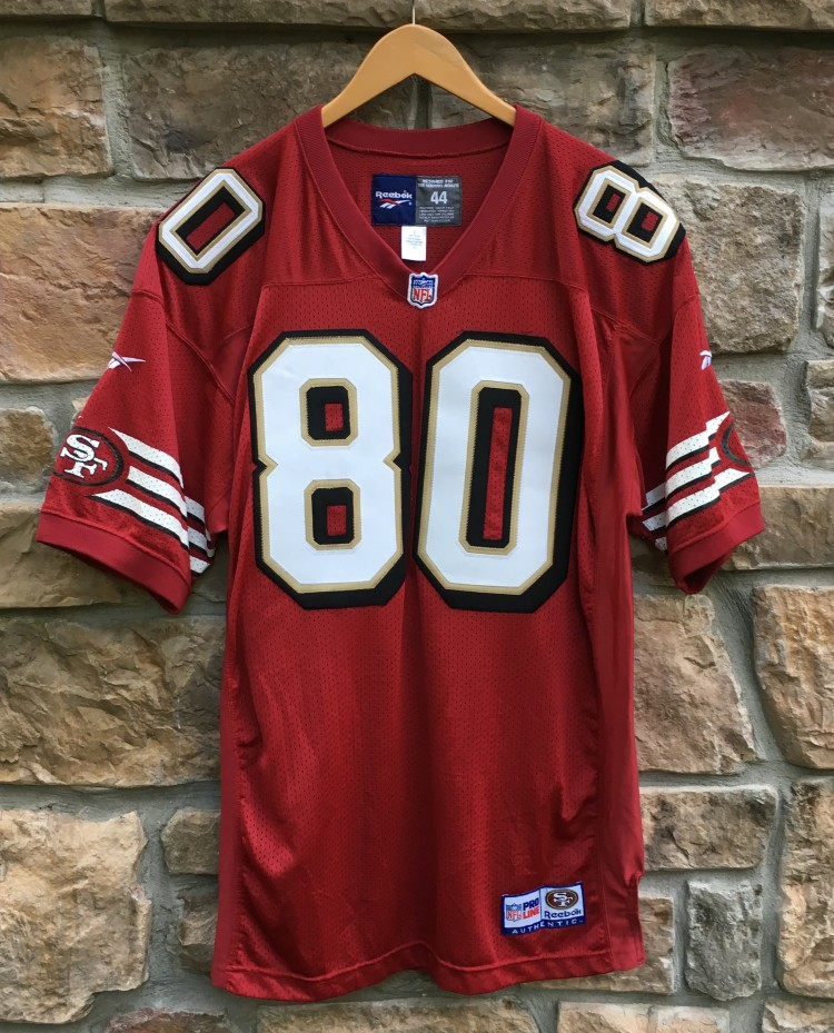 save off 7a9a1 f8825 1996 Jerry Rice San Francisco 49ers Reebok Authentic NFL Jersey Size 44