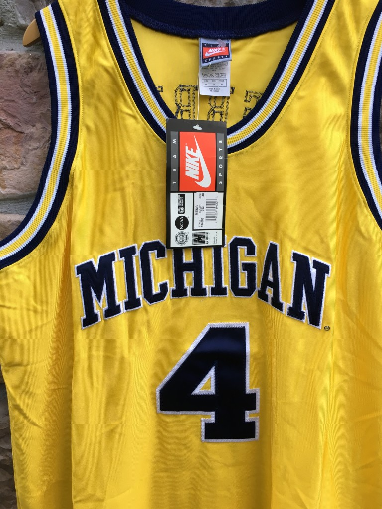new styles b5248 3b05d 1992 Chris Webber University of Michigan Authentic Nike NCAA Jersey Size 48