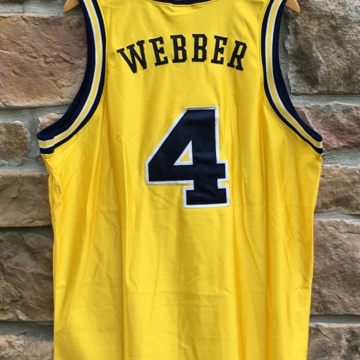 90's University of Michigan Wolverines Chris Webber Fab 5 Authentic Nike jersey size 48 XL Deadstock
