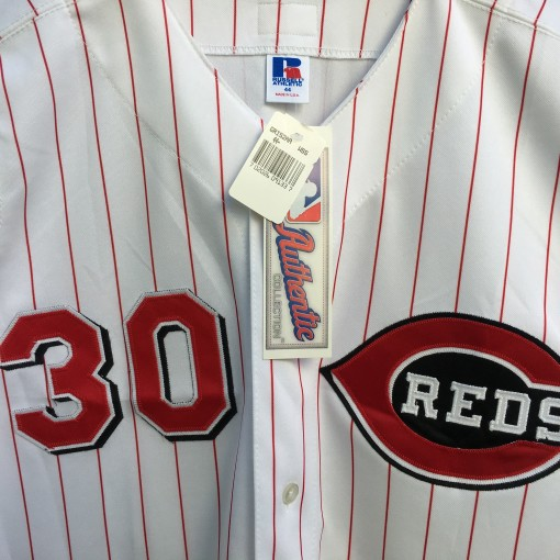 2000 Ken Griffey Jr Cincinnati Reds Authentic russell Diamond collection jersey size 44 large deadstock