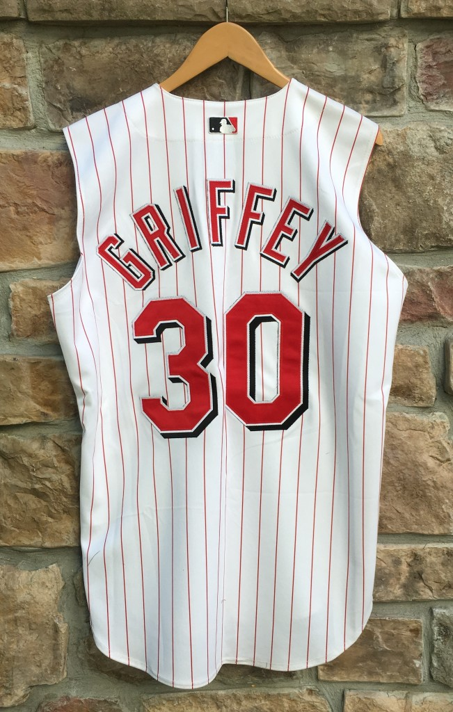 huge selection of c83c4 4e753 2000 Ken Griffey JR Cincinnati Reds Authentic Russell MLB Jersey Size 44