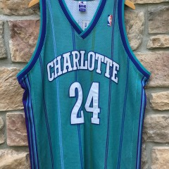 2000 Authentic Jamal Mashburn Charlotte Hornets NBA jersey size 52 XXL Champion
