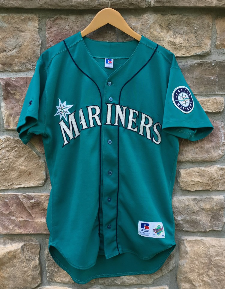 low priced 96c6d ec005 1995 Ken Griffey JR Seattle Mariners Authentic Russell Alternate MLB Jersey  Size 44