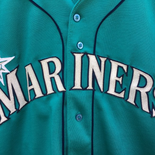 1995 Ken Griffey Jr Authentic Seattle Mariners Russell Diamond Collection MLB jersey size 44 Large Aqua Alternate