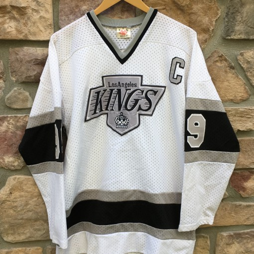 1989 Los Angeles Kings Wayne Gretzky NHL hockey jersey size medium white