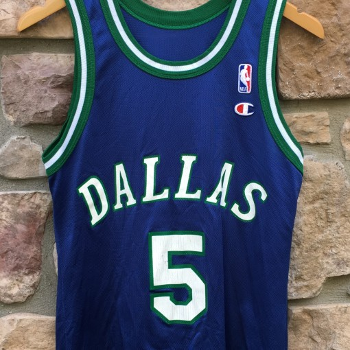 90 s Jason Kidd Dallas Mavericks Champion NBA jersey size 36 small f166f1e4f