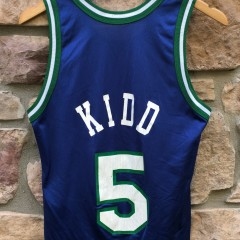 90's Jason Kidd Dallas Mavericks Champion NBA jersey size 36 small