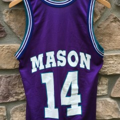 1996 Anthony Mason Charlotte Hornets purple champion nba jersey size 36 small
