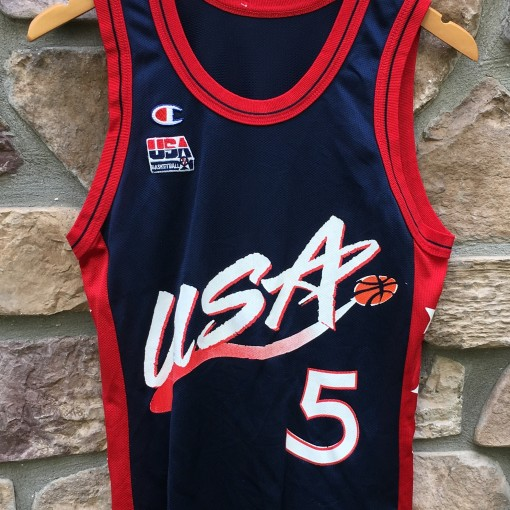 1996 Grant Hill Team USA Basketball Dream team olympic champion jersey size  36 small b588c4797