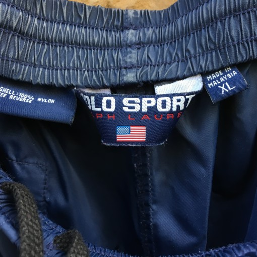 90's Polo Ralph Lauren Sport sweatpants size XL navy blue crest