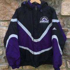 90's Colorado Rockies Apex One MLB jacket size large