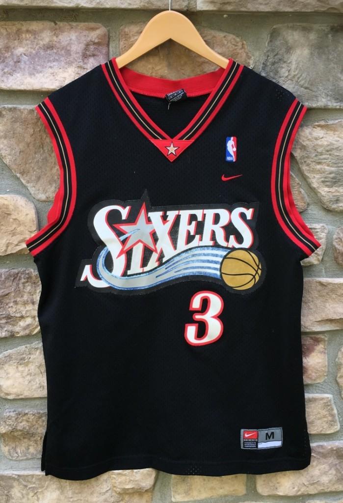 b24f94830 Vintage Allen Iverson Philadelphia Sixers Nike NBA swingman jersey size  Medium