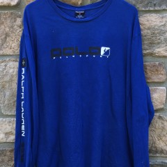 2002 Polo Ralph Lauren Sport long sleeve t shirt blue size XL vintage