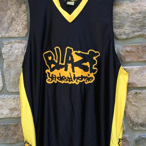 vintage Insane Clown Posse Blaze ya dead homie black yellow basketball jersey size XL