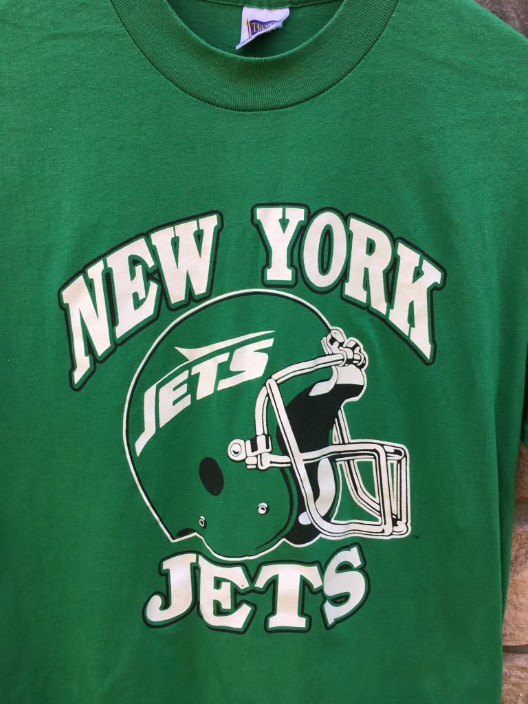 lowest price 1bed9 df75c 80's New York Jets Trench Kelly Green NFL T Shirt