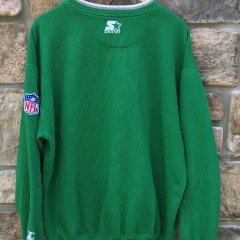 90's Philadelphia Eagles Starter Kelly Green Crewneck sweatshirt size XL