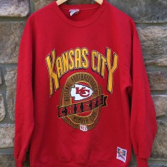 90's Kansas City Chiefs Nutmeg NFL crewneck sweatshirt size large
