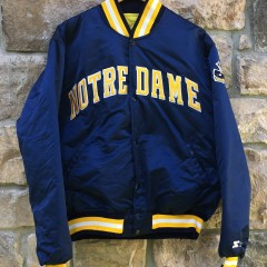 vintage 90's Notre Dame Fighting Irish Starter Satin NCAA jacket size XL