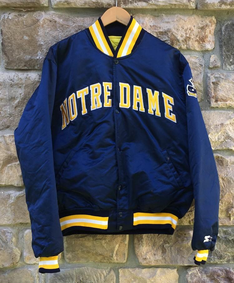 80's Notre Dame Fighting Irish Starter Satin NCAA Jacket Size XL