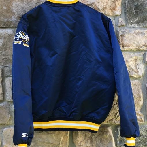 vintage 90's Notre Dame Fighting Irish Starter Satin NCAA jacket size XL