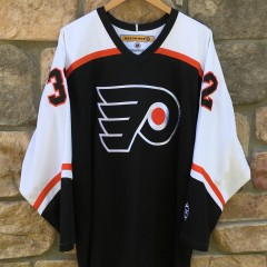 vintage Philadelphia Flyers Roman Cechmanek Koho NHL jersey black alternate size large